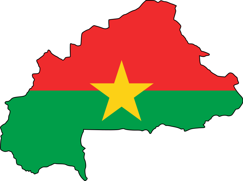 Flag map of Burkina Faso. Head of policy and campaigns for Health Poverty